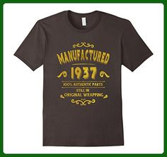 Mens Manufactured 1937 T-Shirt 80 yrs old Bday 80th Birthday XL Asphalt - Birthday shirts (*Amazon Partner-Link)