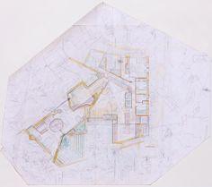 Carlo Scarpa, Villa Ottolenghi, ground floor plan. Courtesy of The Irwin S. Chanin School of Architecture Archive of The Cooper Union