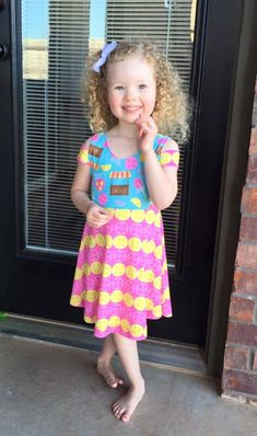 Girls Breezy Shoulder Dress Pattern - Ellie and Mac Formerly Little 4 Awhile