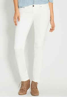 denim flex� jegging in white  (original price, $34) available at #Maurices