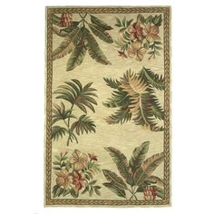 Found it at Wayfair - Sparta Ivory Tropical Oasis Area Rug