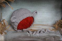 Picot - z miłości do rękodzieła: Testowa czapeczka miś