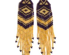 Native American Beaded Earrings Inspired. by LiLaJewelry4You