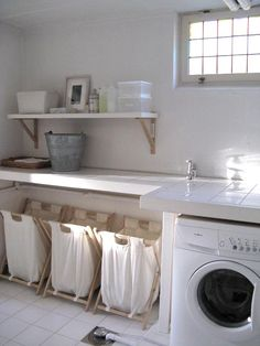 Rustic laundry room.