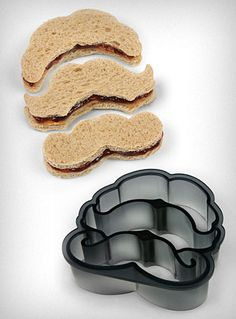Multi-Mustache Sandwich/Cookie Cutter