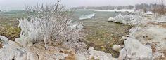 «Свежемороженая художественная галерея». Удивительные ледовые скульптуры, созданные природой на озере Мичиган...