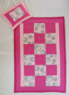 Volleyball Sports Fleece Blanket in light and by MossEmbroidery, $75.00