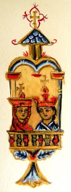 Armenian Illuminated Manuscript Armenian by MoniqueKenSarkessian,