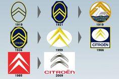 """La double denture en chevron de ces engrenages - appelée aussi """"galons de caporal"""" - deviendra définitivement le symbole de l'entreprise et de la marque Citroën, avec la forme du double V renversé. Le logo Citroën évoluera au fil du temps mais l'emblème des chevrons restera."""
