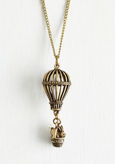 Steampunk hot air balloon necklace.. Its a Bunny Story Necklace $19.99 AT vintagedancer.com