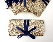 Navy and Gold Bag