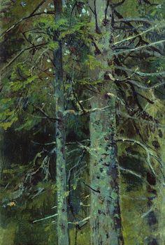 "Ivan Shishkin on Twitter: ""Forest #shishkin #realism… "" Watercolor Trees, Watercolor Landscape, Landscape Art, Landscape Paintings, Russian Painting, Russian Art, Russian Landscape, Forest Painting, Painting Trees"