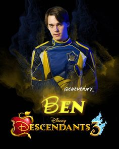 Descendants 3 Ben Ben: King of Auradon. The Isle of the Lost's only hope. Descendants Audrey Doll, Descendants Mal And Ben, Descendants 2015, Descendants Characters, Disney Channel Descendants, Descendants Costumes, Disney Channel Shows, Cameron Boyce, Dove Cameron