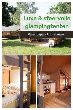 Op Vakantiepark Prinsenmeer, gelegen in Asten, (Brabant) krijg je op een unieke manier de nodige dosis aan comfort en luxe, namelijk tijdens een verblijf in één van onze sfeervolle glampingtenten. Deze comfortabele safaritenten zijn van alle gemakken voorzien en zorgen voor een unieke belevenis voor het hele gezin. Wees er snel bij, er zijn nog enkele tenten beschikbaar! #oostappen #oostappenvakantieparken #glampingtent #safaritent #safaritentbrabant #brabant #vakantie #goedkopevakantie Glamping, Tent, Lush, Store, Go Glamping, Tents