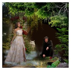 """Hades and Persephone"" by catyravenwood ❤ liked on Polyvore featuring art"