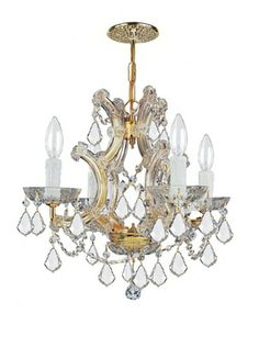 57% OFF Gold Coast Lighting Draped Mini Chandelier, Gold