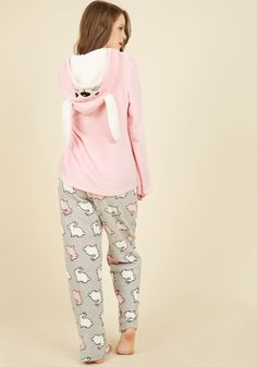 Come On Get Hoppy Pajamas. Itll be downright impossible not to giggle with glee when you don these pink PJs! #pink #modcloth
