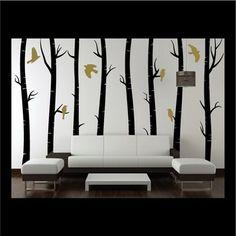 Silver Birch Tree Wall Stickers
