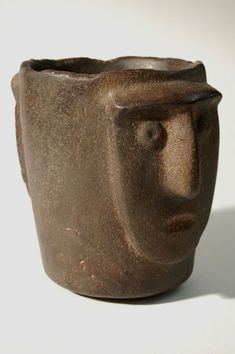 Vessel with Two Faces - William Siegal Gallery Ceramic Decor, Ceramic Clay, Inca, Two Faces, Pottery Bowls, Air Dry Clay, Ancient Artifacts, Ancient History, Sculpture