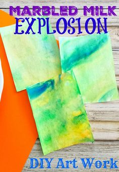 Marbled Milk EXPLOSION ArtWork DIY Tutorial - gorgeous unique art idea based off of a popular science experiment! Plus TIPS on how to display your art and turn it into a gift!