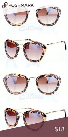 Modern & Sophisticated Leopard print sunglasses Brand new, never worn. Will come on original packaging.Just sooo cool. Goldtone hardware and arms adds just the right pop to these cuties. Don't miss out. Very good quality. Accessories Sunglasses