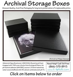 Archival Storage Boxes Now Available!