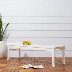 Havenside Home Surfside Cochran White Outdoor Wood Bench (White) Patio Bench, Patio Chairs, Patio Dining, Dining Chair, Outdoor Lounge Furniture, Rustic Furniture, Outdoor Decor, Garden In The Woods, High Quality Furniture
