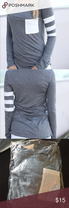 Casual top NEW. Casual long sleeve material: cotton tag inside large Asian but it's s/m USA Tops Tees - Long Sleeve