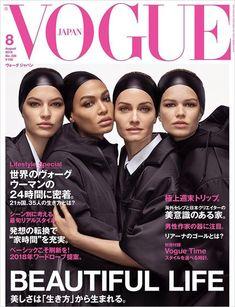 Amber Valletta, Joan Smalls, Anna Ewers, and Faretta cover of Vogue Japan's August 2018 photography duo Luigi & Iango Vogue Japan, Vogue Korea, Vogue Magazine Covers, Vogue Covers, Special T, Amber Valletta, Anna Ewers, Catherine Mcneil, Joan Smalls