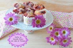 Partilhando Sabores e Receitas: Muffins de Chocolate Branco com Calda de Morangos ...