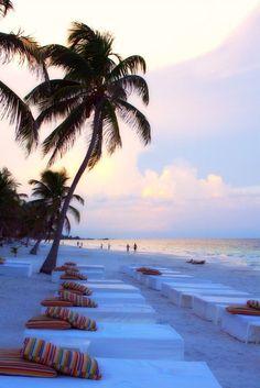 Sunset rendez vs Tulum Beach, Mexico