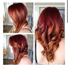 Red hair, orange hair, ombre, love                                                                                                                                                                                 More
