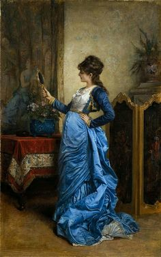 reflections on beauty-Auguste Toulmouche