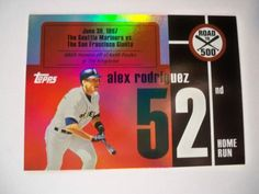 2007 Topps Alex Rodriguez Road to 500 HR #52 Yankees NM/MT