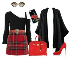 """""""Untitled #141"""" by international-style on Polyvore featuring Oliver Peoples, Yves Saint Laurent, Cinq à Sept, New Look, Gucci, Dsquared2 and Hermès"""