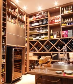 Adega Bel Air House, Caves, Home Wine Cellars, Modern Home Bar, Wine House, Counter Design, Rack Design, Wine Cabinets, Wine Storage