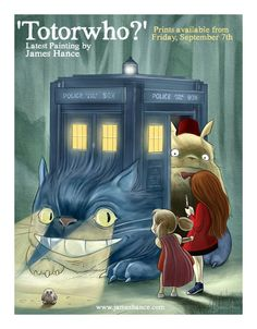 Totoro + Doctor Who @Elizabeth Lockhart Lockhart Milligan @gracia fraile Gomez-Cortazar Kimmel isn't this something you guys like?