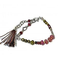 Bransoletka z rubinami Tassel Necklace, Bracelets, Jewelry, Bangles, Jewellery Making, Arm Bracelets, Jewelery, Bracelet, Jewlery
