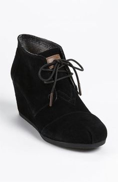 TOMS Bootie. Definitely getting these in black or taupe or both. Maybe brown, too.
