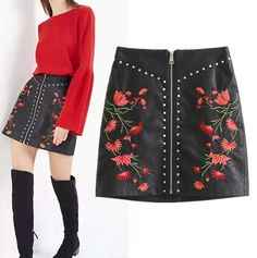 Freeshipping skirt women saia faldas spring 2017 Fashionable joker Do old Restoring ancient ways black Leather skirt //Price: $40 & FREE Shipping //     #streetstyle #beautiful