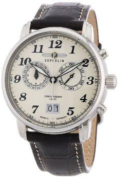 Zeppelin Herren-Armbanduhr LZ127 Graf Zeppelin Chronograph Quarz 76845: Amazon.de: Uhren