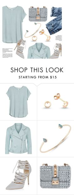 """Something Blue"" by amorium ❤ liked on Polyvore featuring H&M, Amorium, J.Crew, Rebecca Minkoff, Valentino and Blue"