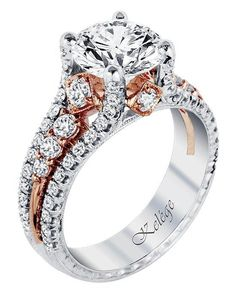 Jack Kelege engagement ring in platinum and white gold with round stone I Style: KPR 587-2 I https://www.theknot.com/fashion/kpr-587-2-jack-kelege-engagement-ring?utm_source=pinterest.com&utm_medium=social&utm_content=june2016&utm_campaign=beauty-fashion&utm_simplereach=?sr_share=pinterest