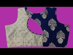 two colour blouse design with stone work cutting and stitching |DIY| - YouTube