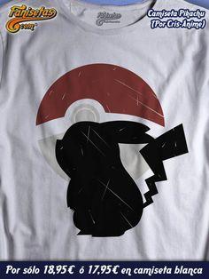 #Pikachu, el más querido de todos los #Pokemon! #Camisetas #Videojuegos #Anime #Fanisetas http://www.fanisetas.com/camiseta-pikaku-p-5731.html