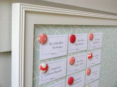 WEDDING SEATING CHART Personalized Reception Magnet Board for Escort Card Display - Deluxe Package - Board, Magnets, and Place Cards