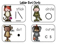 Free! Alphabet letter sort fun.