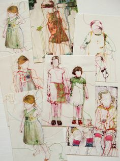 Textile Art: Sewing Pictures … - Knowledge of the skill of knowledge Thread Art, Thread Painting, Free Motion Embroidery, Embroidery Art, Illustrator, Creative Textiles, Contemporary Embroidery, Sewing Art, Textile Artists