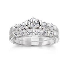 1 Carat Diamond 14kt White Gold Bridal Set -- Stargazer cute simple and not to expencive .... Yeap