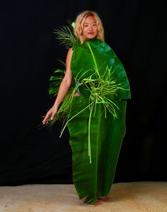 """""""The Birth Of Fashion Revisited"""" project of foliage couture by Louda Larrain inspired by the exuberant nature of Kauai (www.loudacollection.com) Photography: Gilles Larrain (www.gilleslarrain.com) Model: Kyahnasun Dakini"""